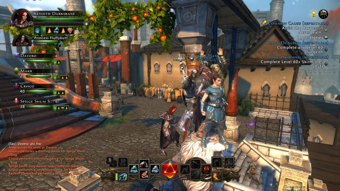 The Pass the Controller gang in Neverwinter