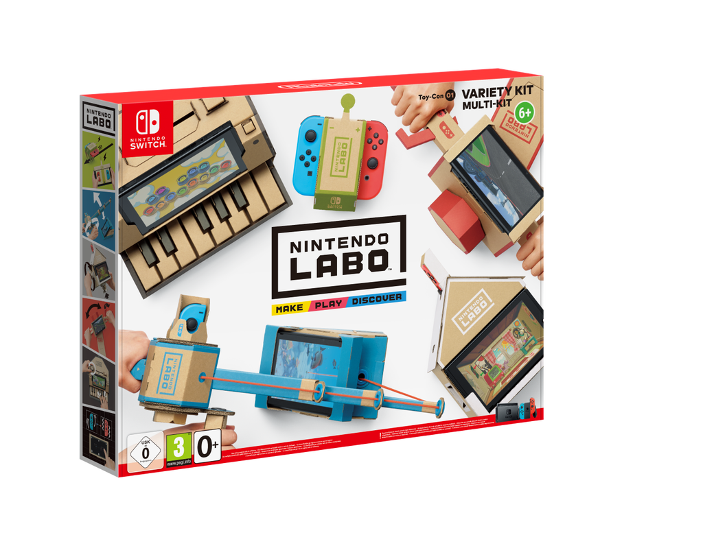 Nintendo Labo lets you create cars, robots fishing rods and pianos as a new way of interacting with the console.
