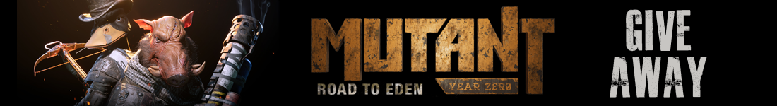 Mutant Year Zero: Road to Eden giveaway banner - Pass the Controller
